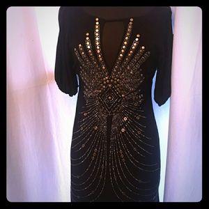 BCBG studded dress